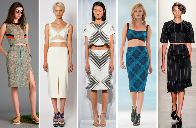 The Crop Top Trend as seen @ NYFW