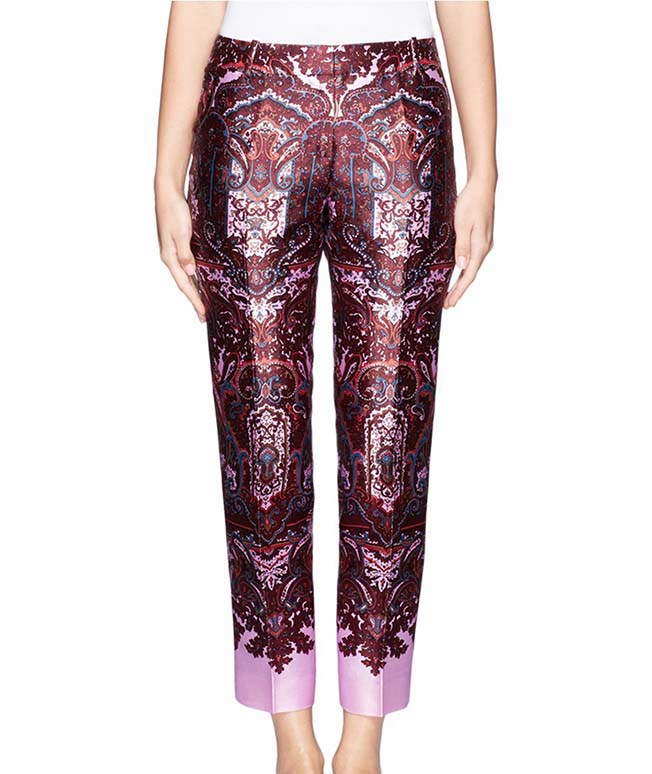 J.Crew Paisley Cropped Pants, Lane Crawford, approx $460AUD