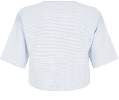Alexander Wang Optical Stripe Crop T-Shirt, ShopBop, approx $485.49AUD