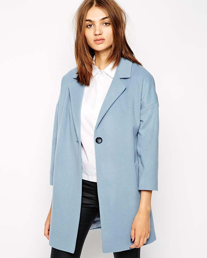 Blue Swingcoat, ASOS Australia, ON SALE $167.31AUD