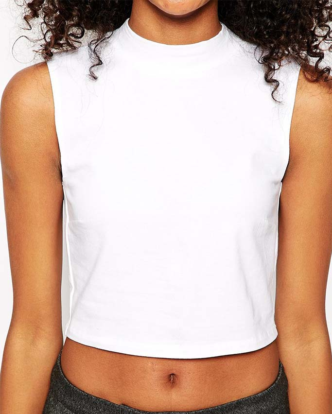 High Neck Crop Top, ASOS Australia, $28.52AUD