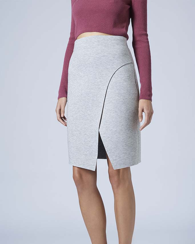 TOPSHOP Bonded Wrap Skirt, TOPSHOP, Approx $59AUD
