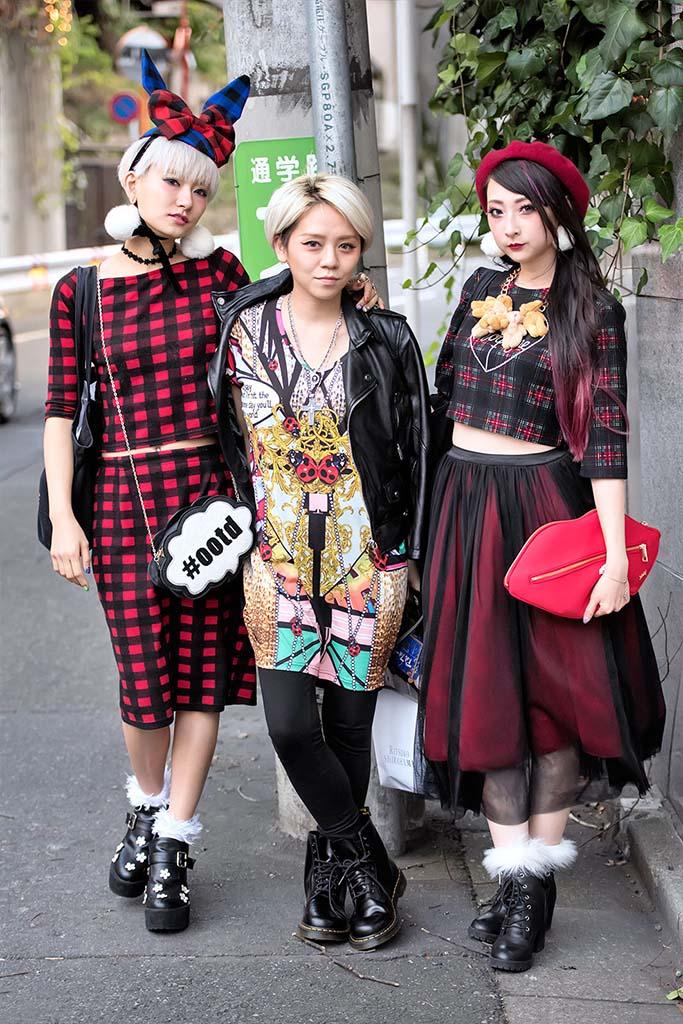 Yuri Nakagawa,Emi Tiger&RinRin Doll,Mercedes-Benz Tokyo Fashion Week Street Style