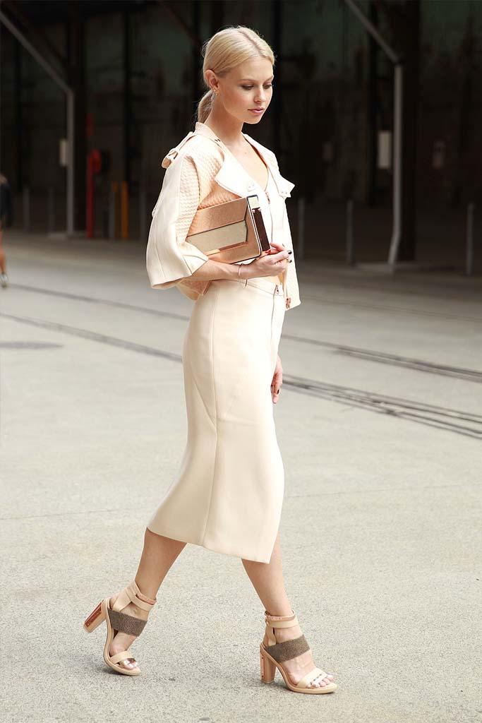 The Nude Street Style Look, Mercedes-Benz Fashion Week, Sydney, 2014