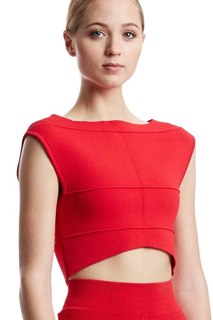 Australian Designer Scanlan Theodore Crepe Knit Top, ScanlanTheodore, $250AUD
