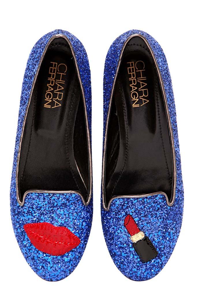 Chiara Ferragni Lipstick Glitter Loafers, Luisaviaroma.com, $258AUD