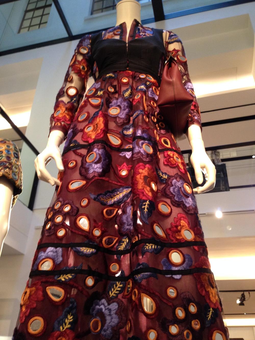 Statement Mirrored dress,Burberry Prorsum Autumn Winter Womenswear 2015