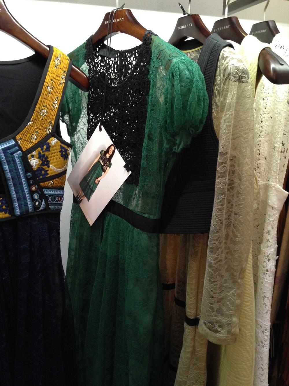 The Green and Black Lace Dress,Burberry Prorsum Autumn Winter Womenswear 2015