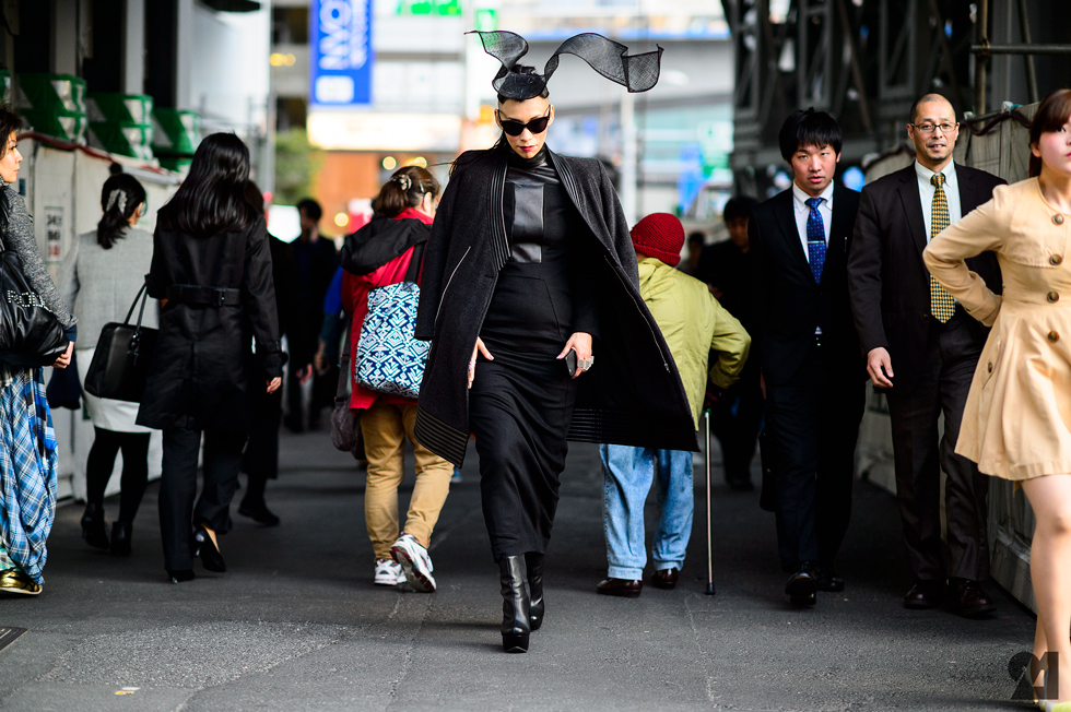 Tokyo Fashion Week Street Style, photo by fashion.163.com