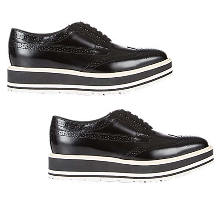 Prada Wingtip Brogue Platforms, Barneys