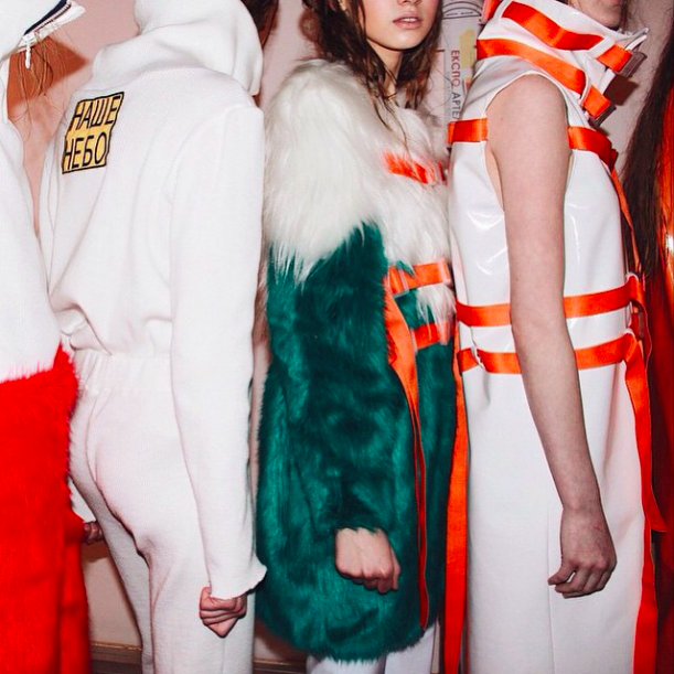 Maria Hitcher Autumn Winter 2015-16, Backstage at MBFWK, Fashion Scout, photo by Bricks Magazine
