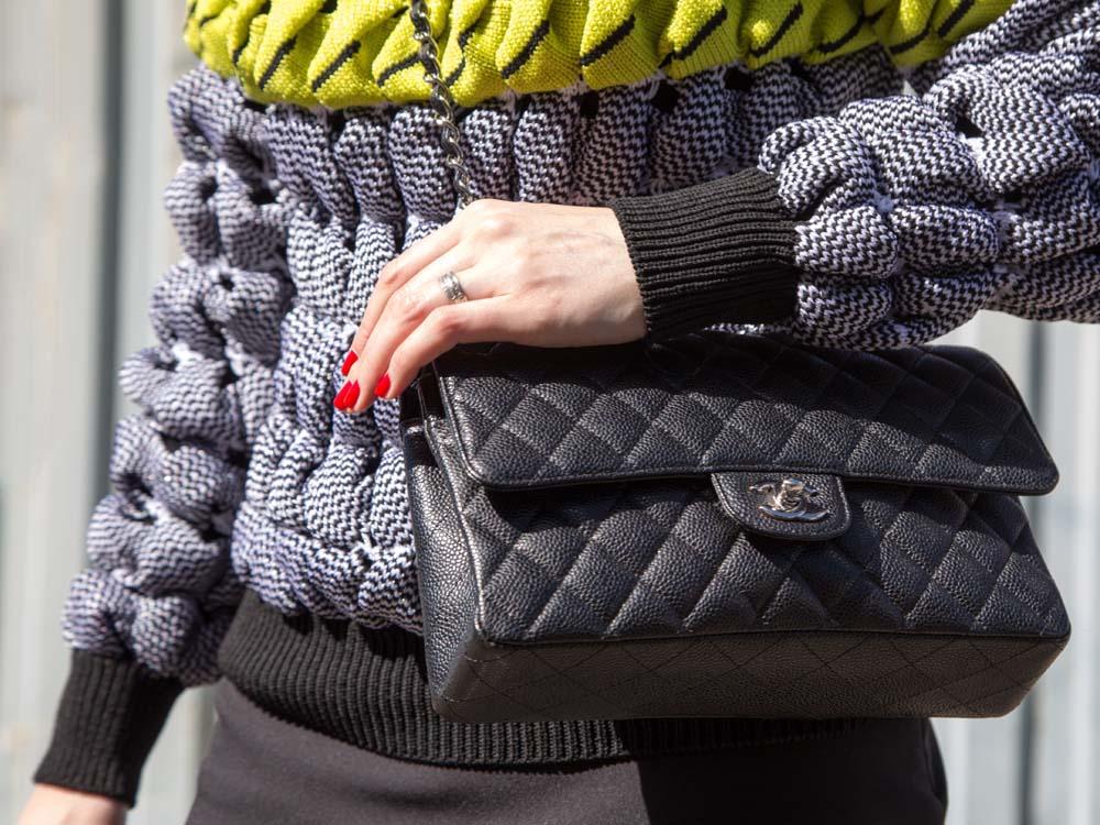 Alexander Wang Jumper, Scanlan Theodore Skirt, Chanel Bag
