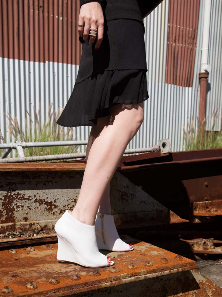 Scanlan Theodore Skirt, Burberry Shoes
