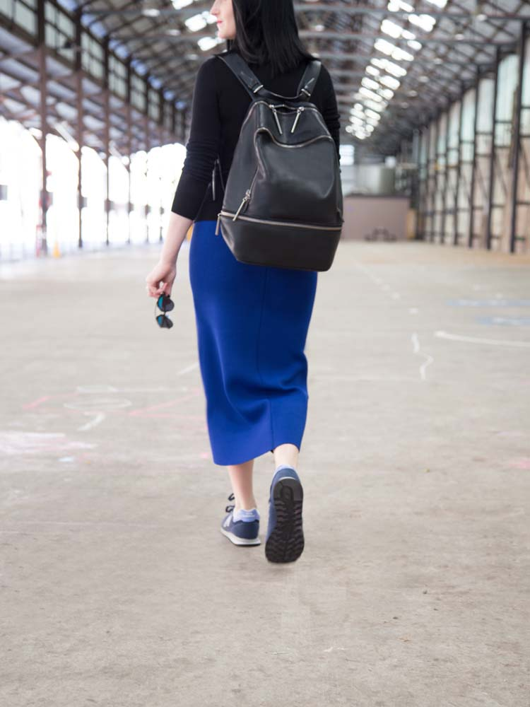 UNIQLO Jumper, Scanlan Theodore Skirt, 3.1 Phillip Lim Backpack, Dior So Real Sunglasses, New Balance Sneakers