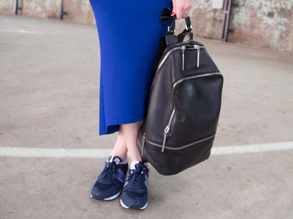 Scanlan Theodore Skirt, 3.1 Phillip Lim Backpack, Dior So Real Sunglasses, New Balance Sneakers
