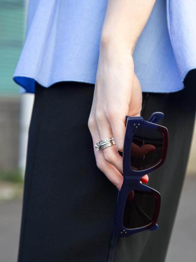 ELLERY Australia Blue Cotton Shirt, Céline Pants & Sunglasses