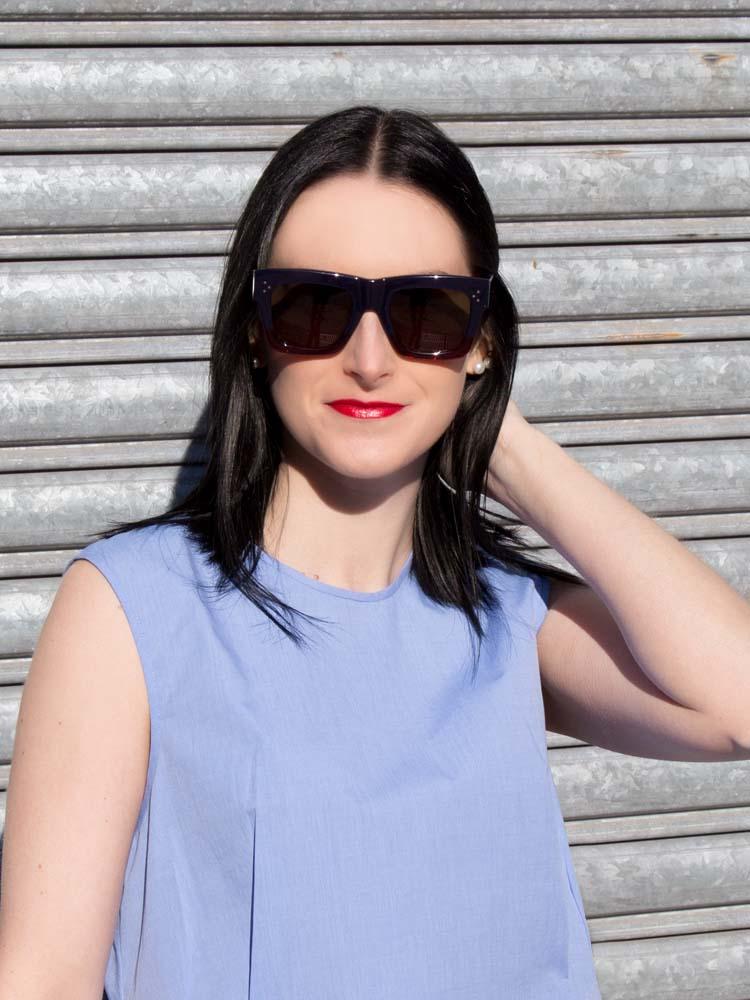 ELLERY Australia Blue Cotton Shirt, Céline Sunglasses