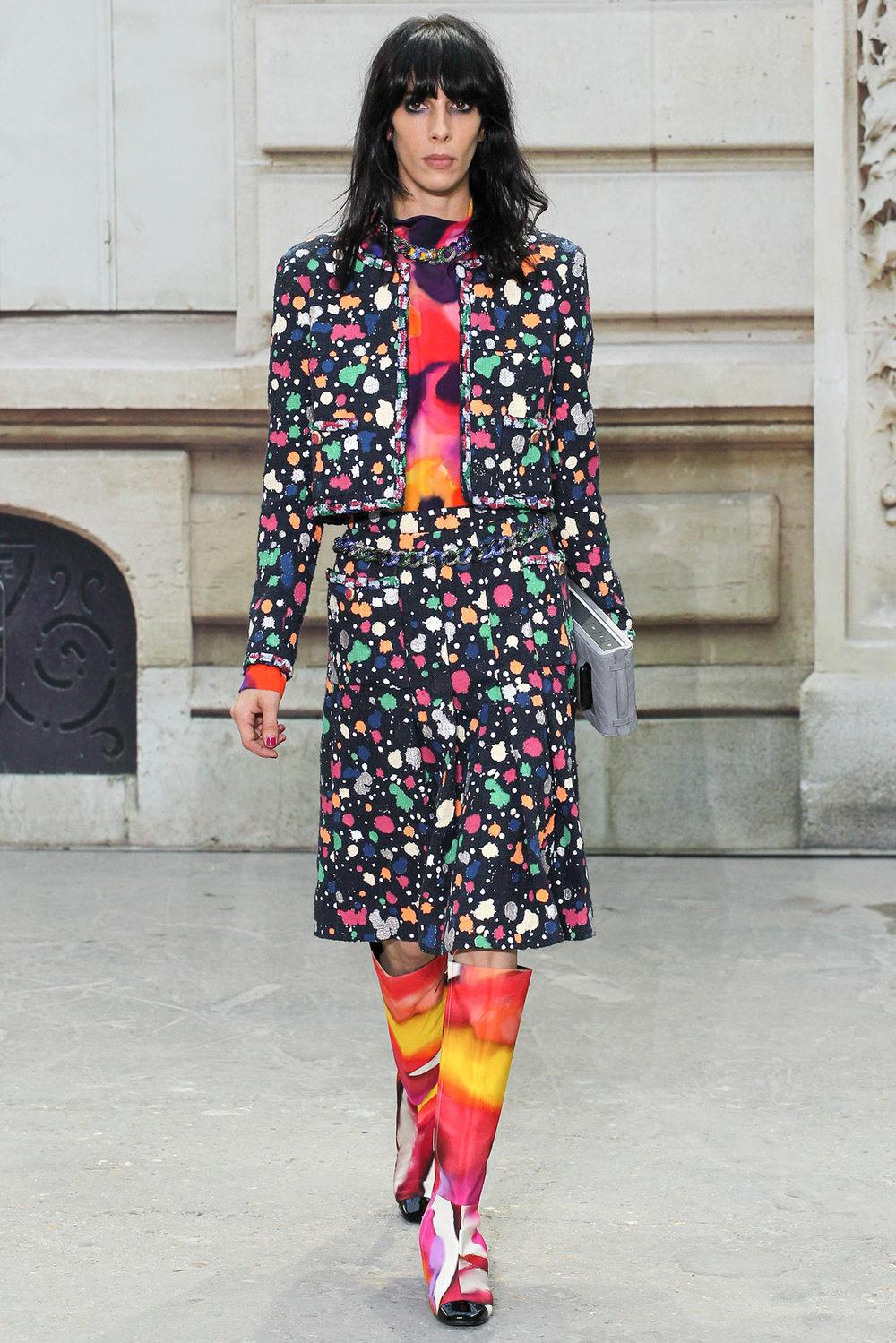 Chanel Spring Summer 2015 Coloured Splatter Print