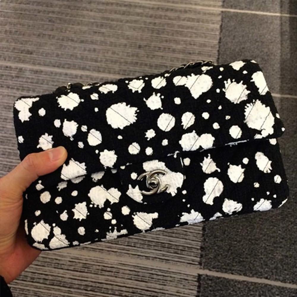 Chanel Spring Summer 2015 Monochrome Splatter Bag In Boutiques Now