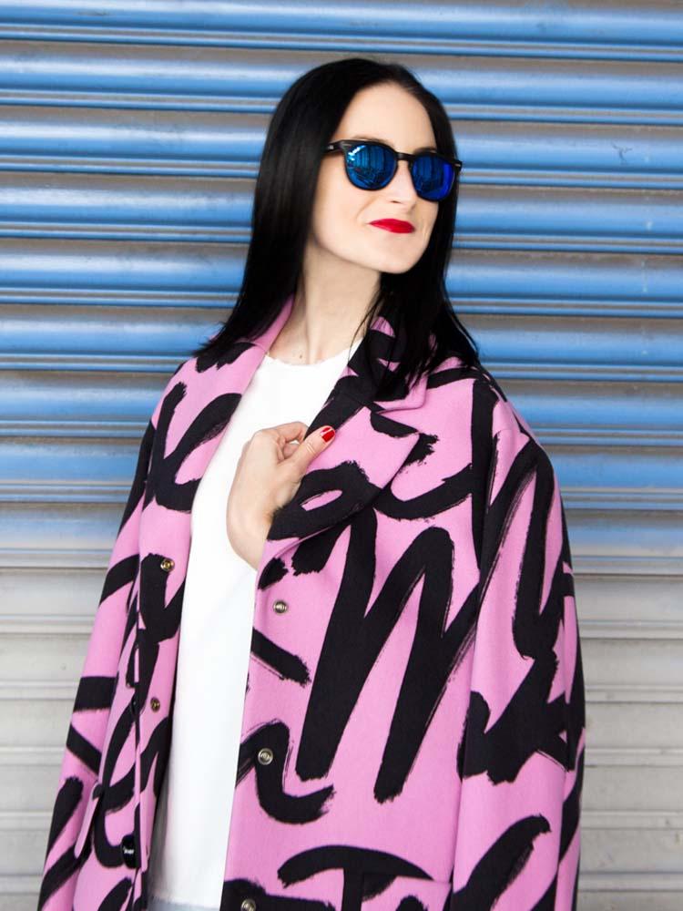 Balenciaga Sneakers, Moschino Cheap & Chic Graphic Coat, Bassike Top