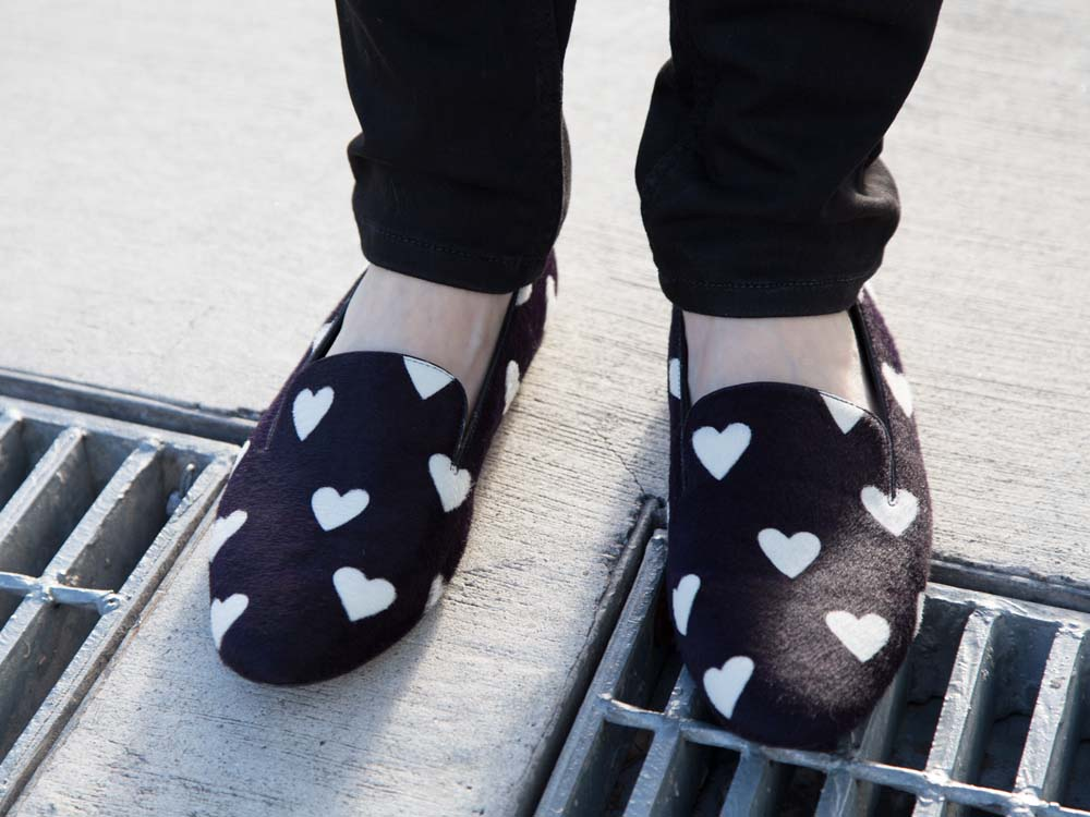 Burberry Heart Print Loafers