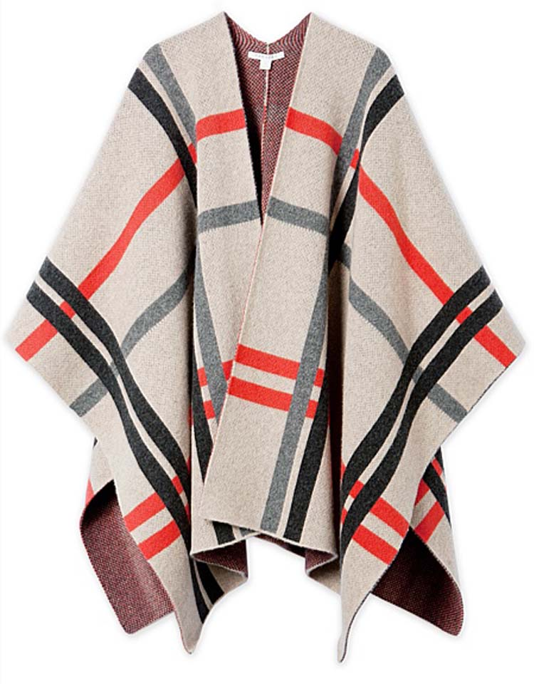 Ternary Check Poncho/Blanket, ON SALE $119AUD