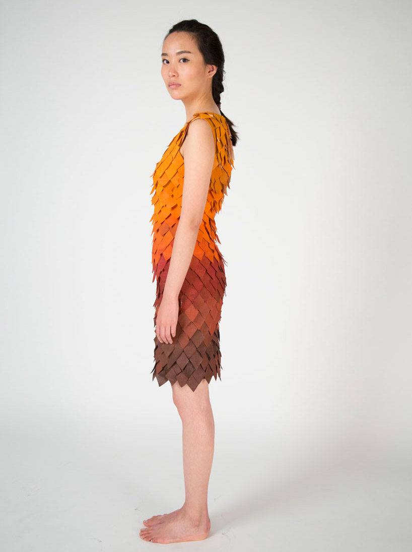 Reactive Fall Dress by Birce Özkan