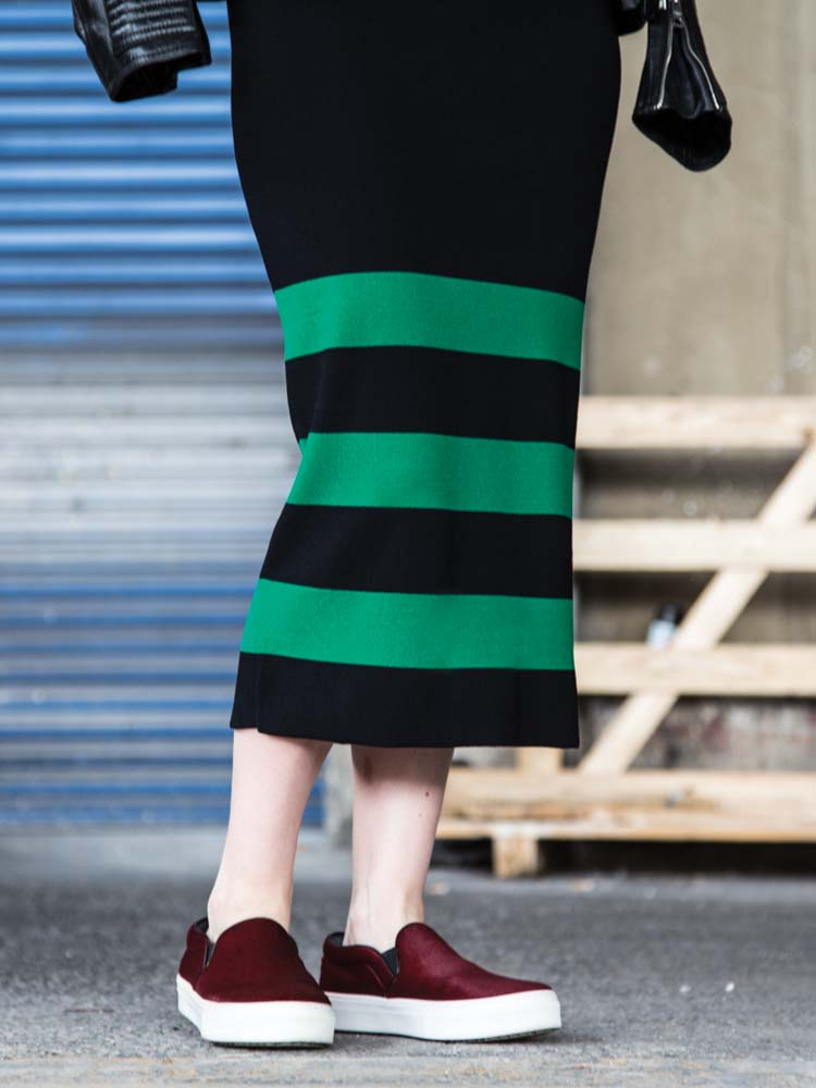POL Clothing Horizon Midi Skirt, Spring 2015
