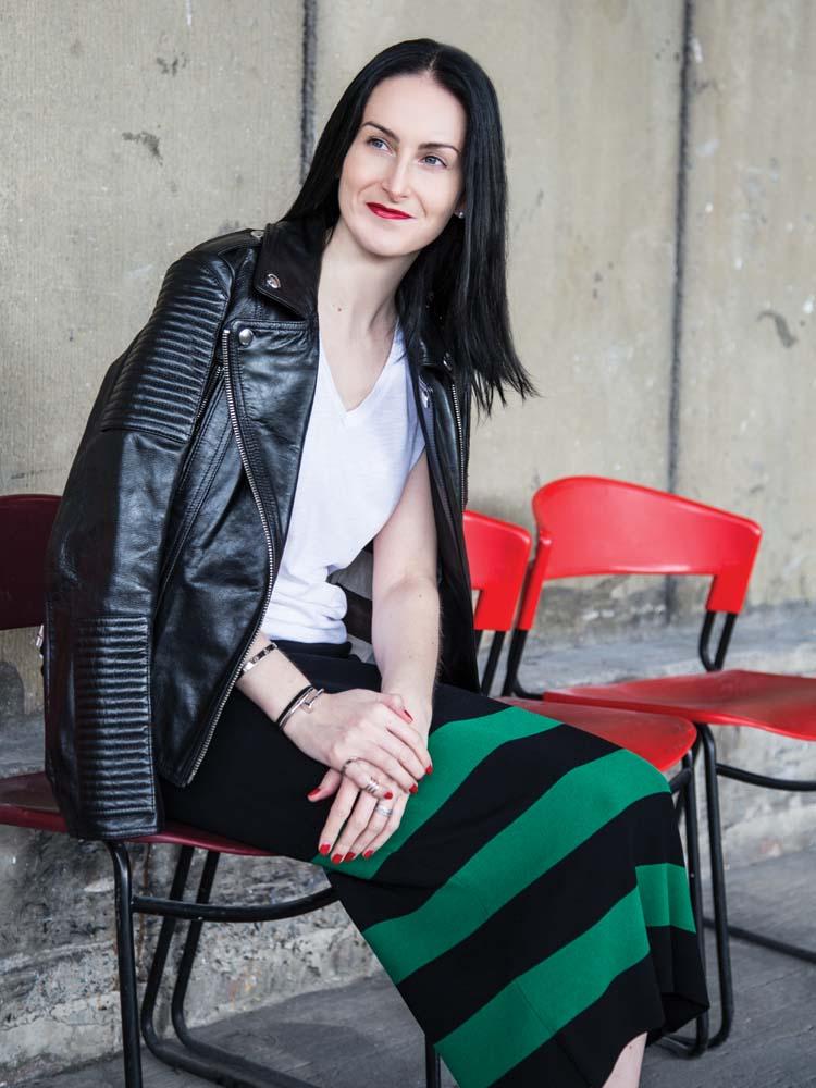 POL ClothingHorizon Midi Skirt, Spring 2015