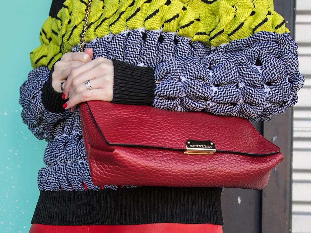 Alexander Wang Jumper, Burberry Bag, Balenciaga Leather Pants