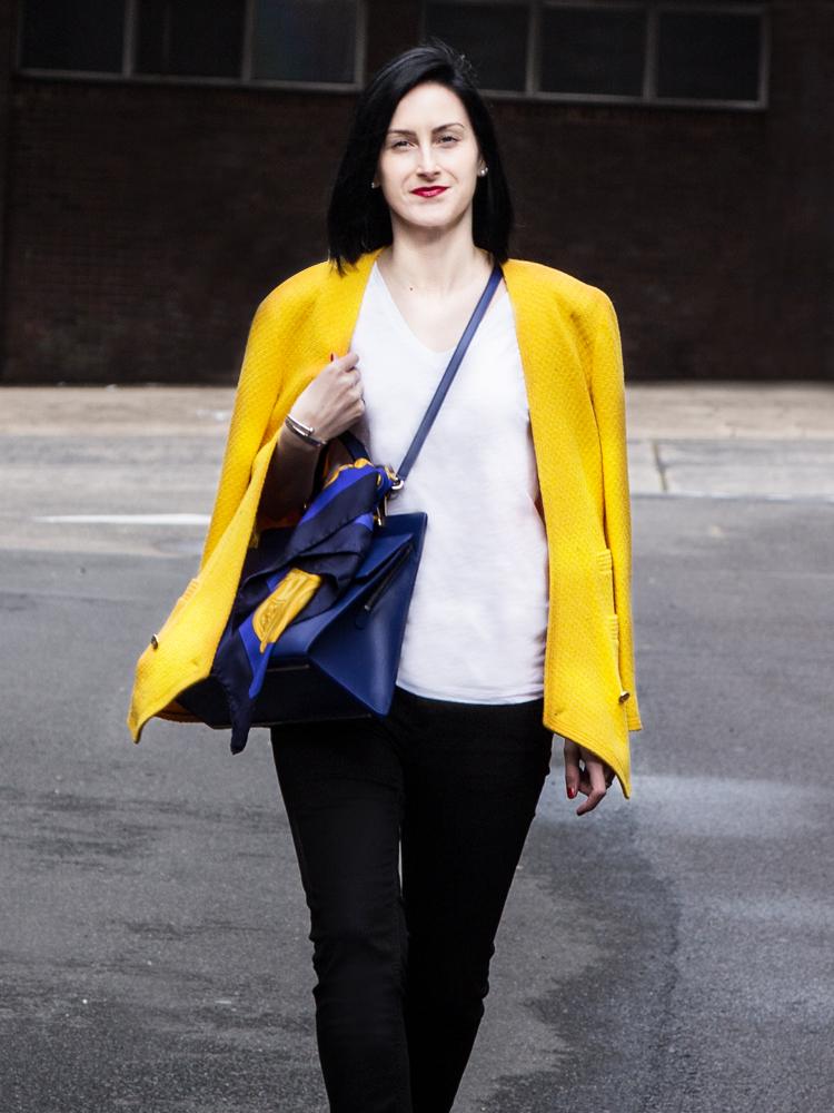 Hawkeye Vintage Chanel Jacket and Céline Scarf