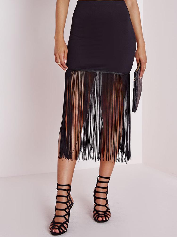 Missguided Fringe Skirt, $40AUD