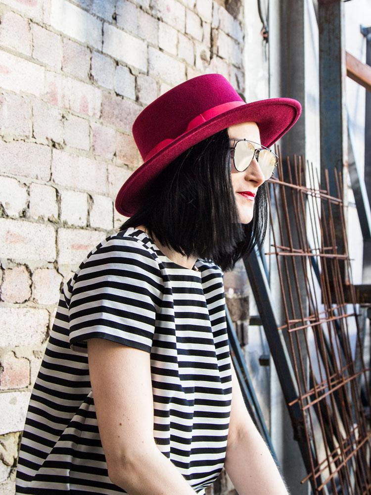 Lack of Color Hat, ZARA Top, Dior Sunglasses