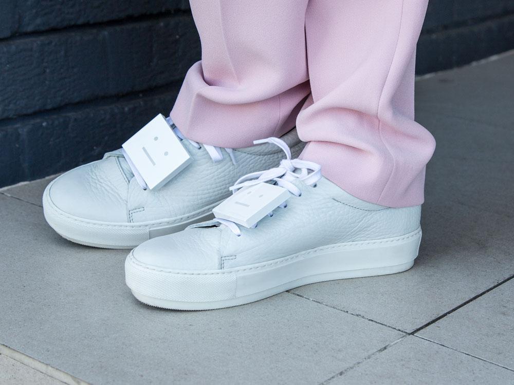 Pink Suit Pants Available Online Soon www.marcs.com.au, ACNE STUDIOS Sneakers