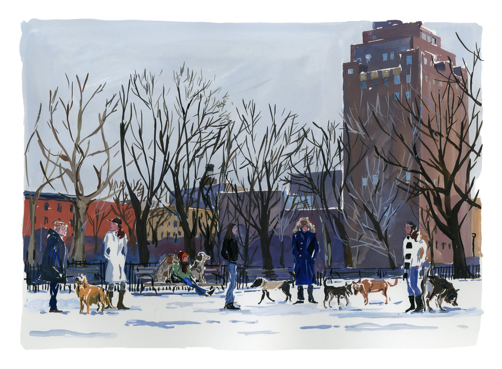 Tompkins Square dog park   Louis Vuitton New York Travel Book