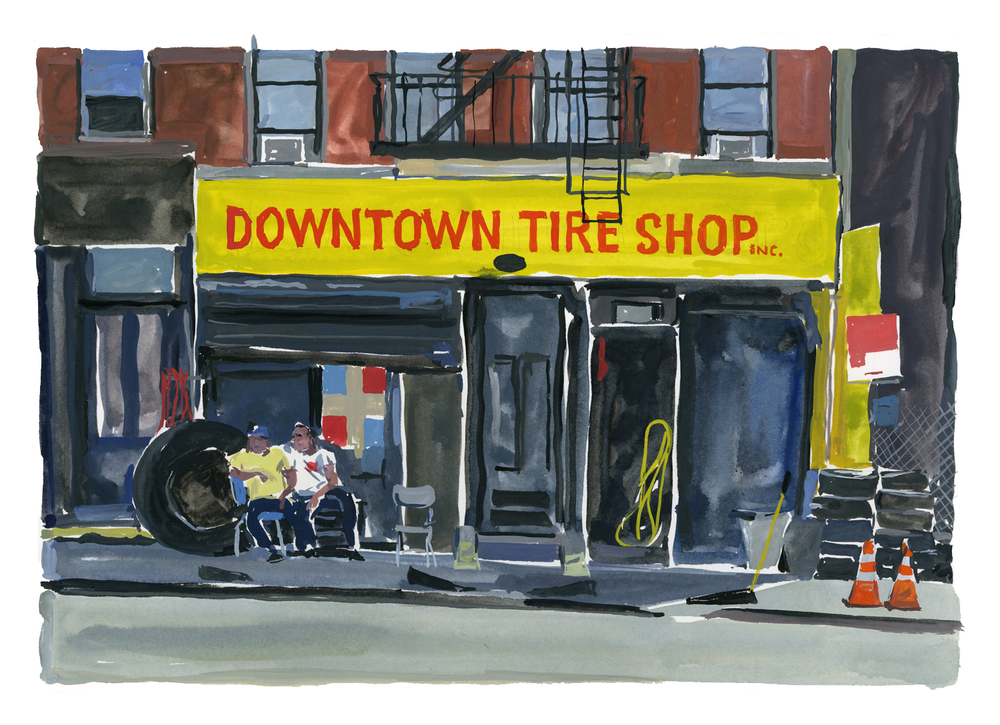 Tire shop   Louis Vuitton New York Travel Book