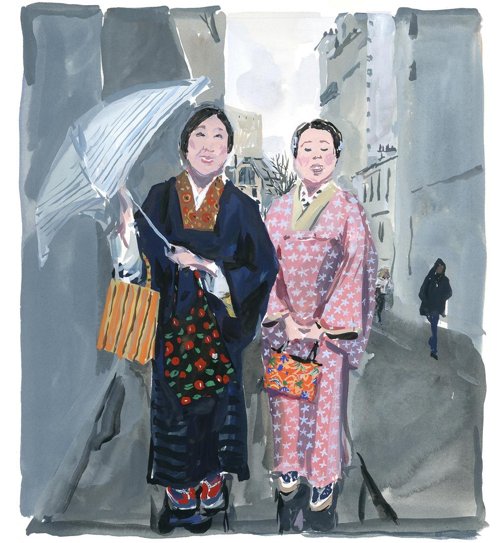 Kimonos in Paris Pariser Tagerbuch eit Magazin