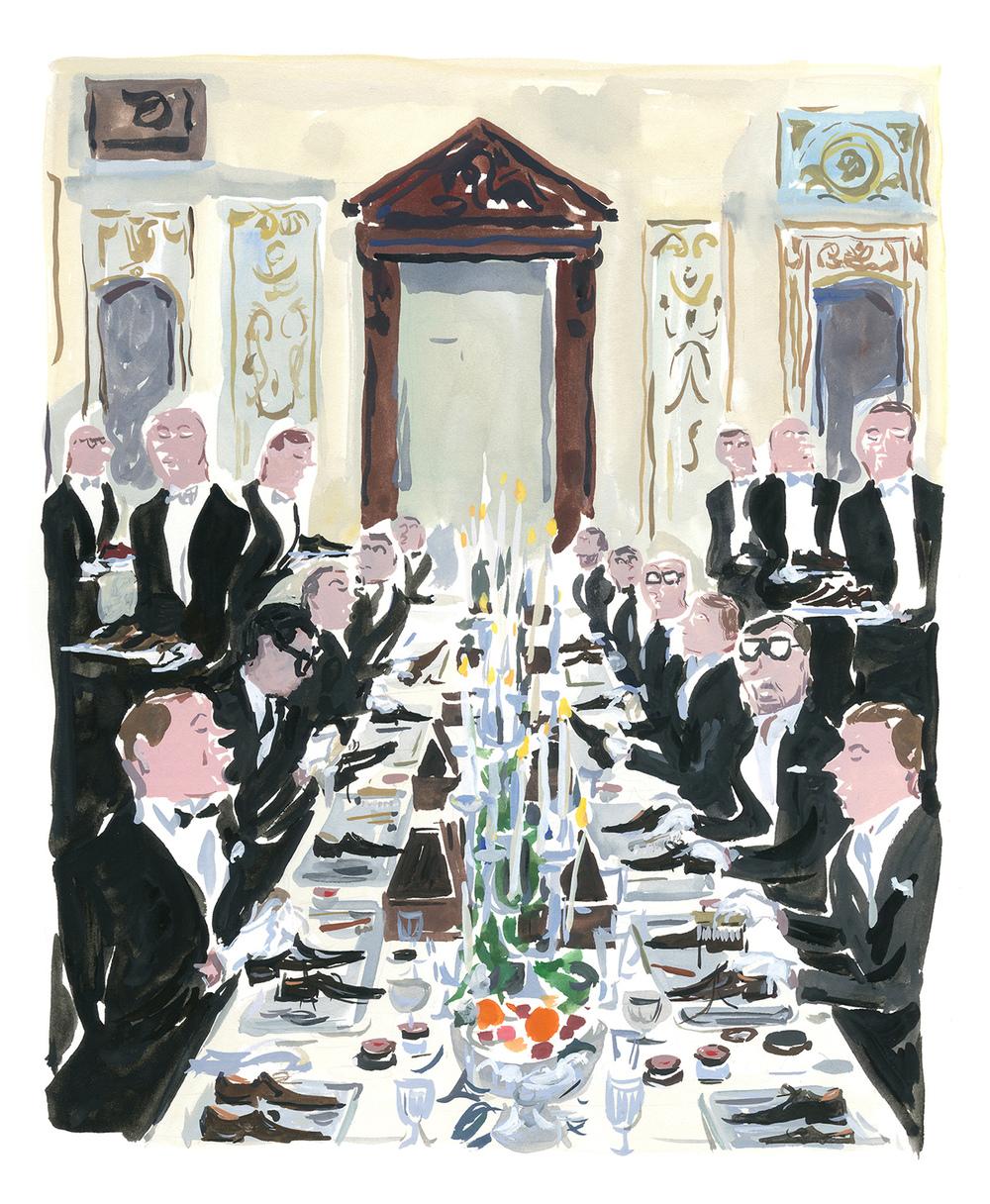 Swann Club Berluti dinner Pariser Tagerbuch eit Magazin