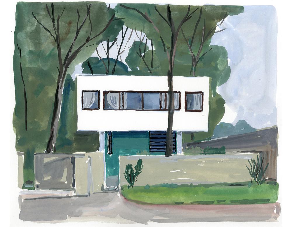 """Le Corbusier, Villa Savoye From """"Les Heures Claires de la Villa Savoye"""""""