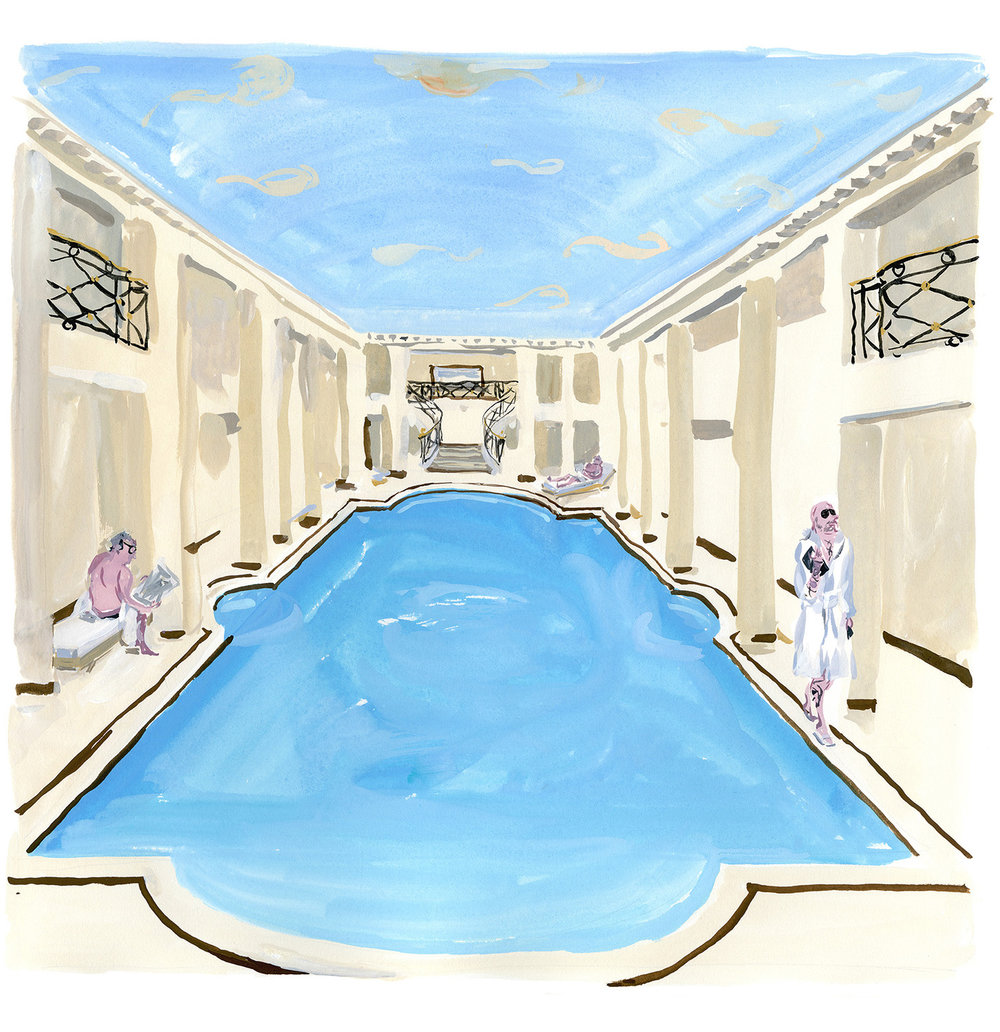 "Swimming pool at Le Ritz, Paris For ""M"" Le Monde"
