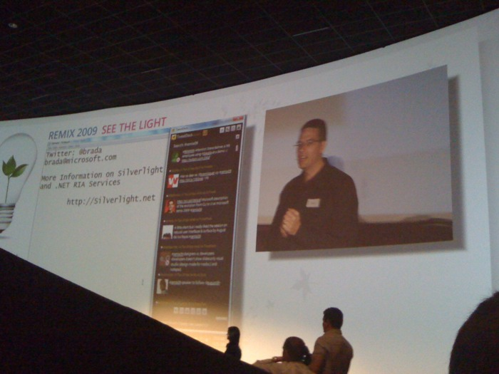 Hey, that's my tweet on the big screen! via tweetie