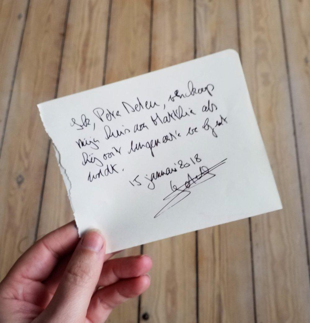 """""""Ik, Peter Deleu, verkoop mijn huis aan Mathias als hij ooit burgemeester van Gent wordt"""", 15 janurari 2018"""