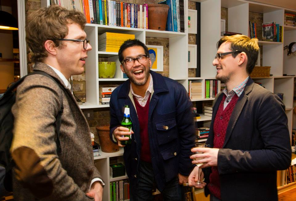 From Left - Tom Bonnick (Nosy Crow), Eric Huang (Made in Me), Chris McCrudden (Midas PR)