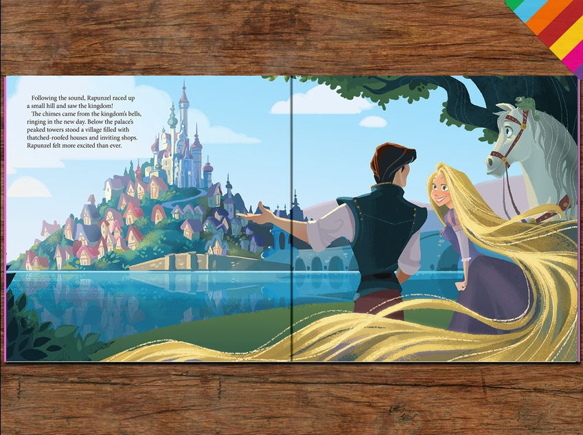 Disney's 'Tangled - A Dazzling Day' is now available in Me Books