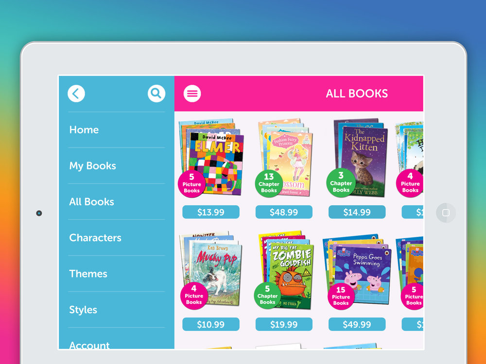 Browse the library by Age, Characters and Themes
