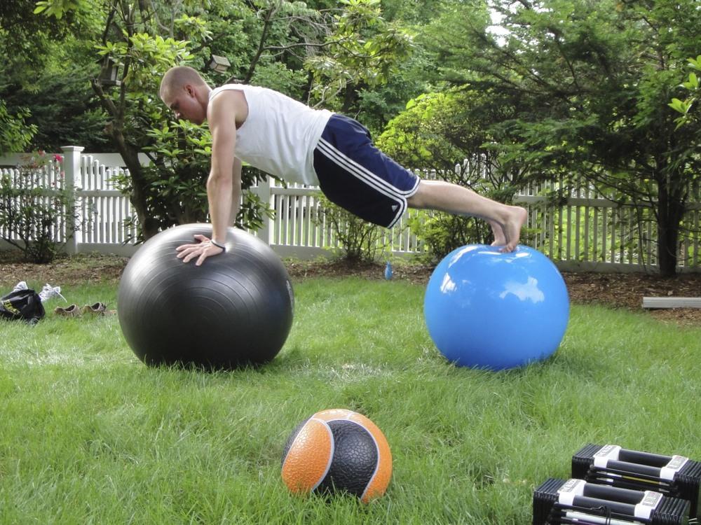 Dan performing a Pushup with 2 Stability balls....jpg
