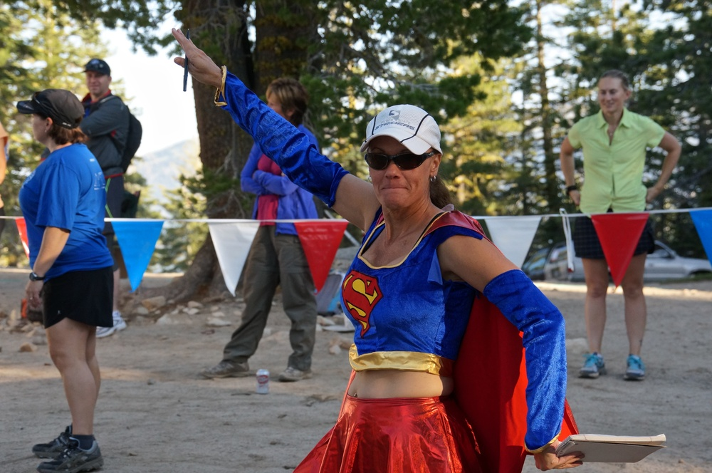 Just one of the great volunteers in costume at Tunnel Creek Aid Station, greeting every runner that came in!