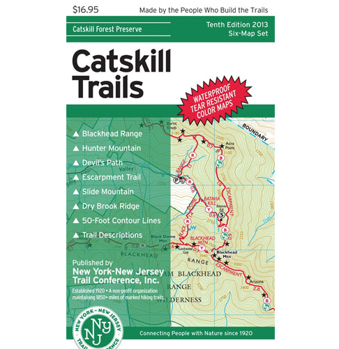 New York / New Jersey Trail Conference Maps - Official Trail Conference Maps are your best guides to exploring the great outdoors in the New York-New Jersey region, including Bear Mountain and Harriman State Parks, the Catskills, Minnewaska State Park Preserve, Mohonk Preserve, the Kittatinny Ridge and Delaware Water Gap, the Palisades, North Jersey Highlands, Storm King State Park, Black Rock Forest, Schunemunk Mountain, Sterling Forest State Park, East Hudson Highlands, Breakneck Ridge, Fahnestock State Park and the South Taconics.