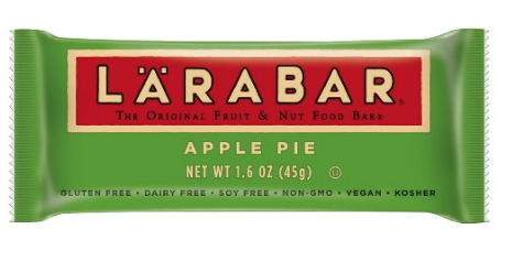 LARABAR Fruit & Nut Bars - These are great little bars that are gluten, vegan, soy & dairy free, along with being kosher and non-GMO.
