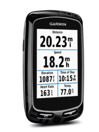 Garmin Edge 810 GPS Cycling Computer - The Garmin Edge 810 is a solid cycling computer and the bigger brother to the Edge 520. Along with monitoring your heart rate, power, speed, pace, elevation changes, etc. you will be able to download maps and view your current location directly from the device. This greatly enhances the adventure by allowing you to pinpoint your location and find some new trails or roads to explore.